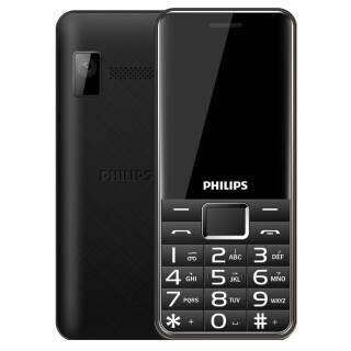 飞利浦(PHILIPS) E132X 珠光黑 直板按键 超长待机 移动联通2G 双卡单待 老人手机 学生备用功能机 99元