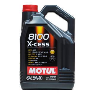 欧洲进口 摩特(Motul) 全合成润滑油 8100 X-CESS 5W-40 ACEA A5/B5 SN级 5L/桶 *2件 466.95元(合233.48元/件)