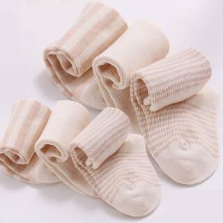 威尔贝鲁(WELLBER)婴儿彩棉经典款四季袜(6入装)12-14cm *3件 68.4元(合22.8元/件)