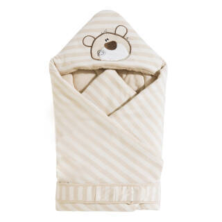 喜亲宝(K.S.babe)婴儿抱被 彩棉新生儿抱被 宝宝抱被睡袋披风秋冬加厚款90*90CM *2件 98元(合49元/件)