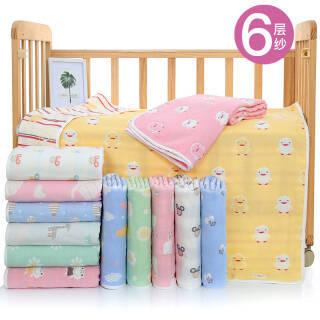 婴儿浴巾儿童纯棉新生儿宝宝空调被婴幼儿柔软吸水毛巾洗澡巾毛毯被 蓝色 80cm*80cm *2件 41.44元(合20.72元/件)
