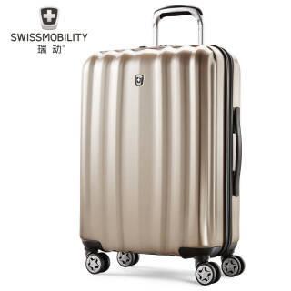 瑞动SWISSMOBILITY 20寸商务新时尚登机箱全新PC+ABS商务旅行箱行李箱 香槟金 20寸登机箱5058 399元