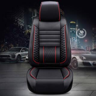 迪普尔 汽车坐垫 5座全套红黑色标准款 299元
