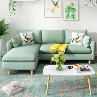 可拆洗实木框架客厅整装布艺沙发小户型3人位  券后1180元