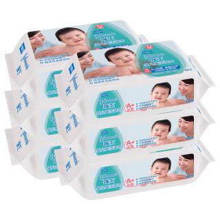 强生(Johnson)婴儿清爽洁肤柔湿巾80片*6包 宝宝儿童湿巾 *2件 47.12元(需用券,合23.56元/件)