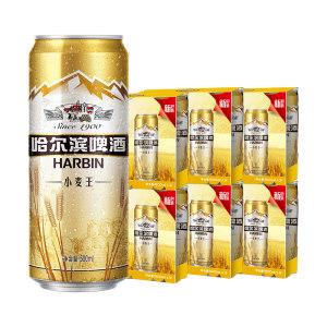 天猫超市 哈尔滨 小麦王啤酒 500ml*36听 拍2件109.8元包邮 赠滴露消毒液