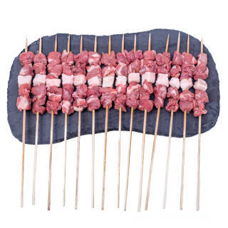 京东PLUS会员:草原宏宝 羔羊肉串 500g 约20串 *5件 157.5元(双重优惠)