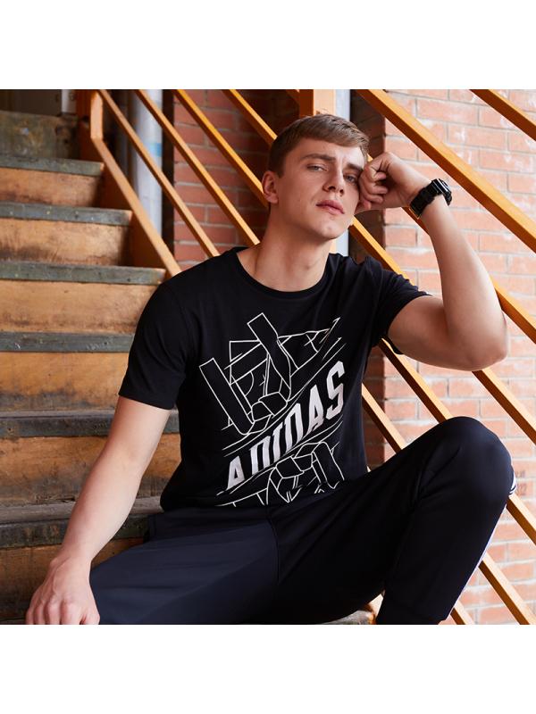 adidas 阿迪达斯 ADITSG1-BW 男款短袖T恤 89元包邮