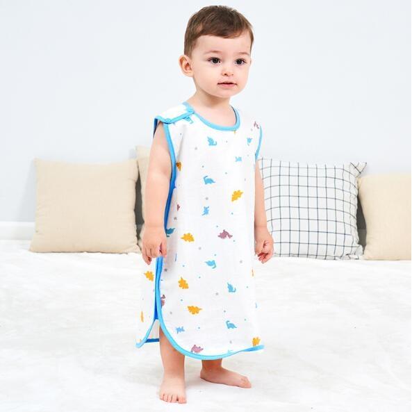 龙之涵 宝宝蘑菇纱布睡袋 29.9元包邮