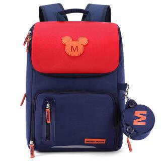 迪士尼(Disney)小学生书包1-3年级男女童双肩米奇韩版休闲儿童背包 SM11752藏青色小号 85元