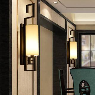 限地区:HD 新中式壁灯 客厅装饰灯卧室床头灯具 酒店墙壁灯走廊过道灯 宫阙(含光源) 179元