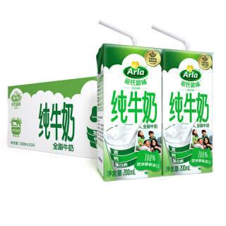 爱氏晨曦(Arla) 全脂牛奶 200ml 24盒 普通装 *4件 186.6元(合46.65元/件)