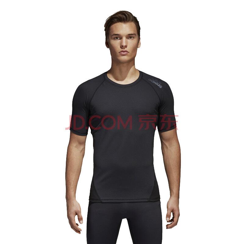 ¥99 阿迪达斯adidas 2018秋季 男装 ASK SPR TEE SS 男子透气运动短袖T恤 CF7235 黑色 XL