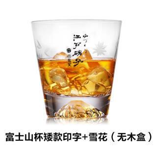 创意富士山水晶玻璃杯 250ml 39元