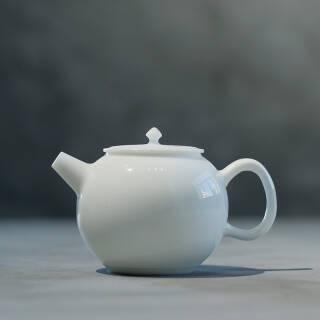 海洲窑 德化手工玉泥白瓷茶壶 白羊脂玉高温陶瓷西施壶 茶具泡茶壶 羊脂玉西施壶  券后85元包邮