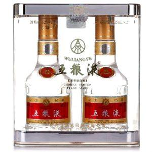 五粮液 普五液 52度浓香型白酒 225ml*2瓶 礼盒装 799元 平常859元