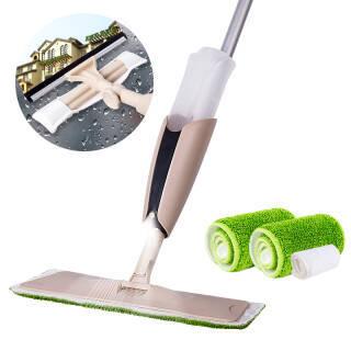 厨格格 木地板保养拖布喷水拖把 擦窗器 家用平板喷雾喷水拖把 *2件 95元(合47.5元/件)