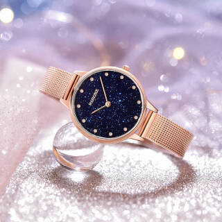 雷诺(RARONE) 手表 璀璨星空女士手表时尚简约石英女表 星月系列 469元