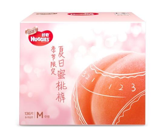 ¥144 HUGGIES 好奇 铂金装 婴儿纸尿裤 M号 136片