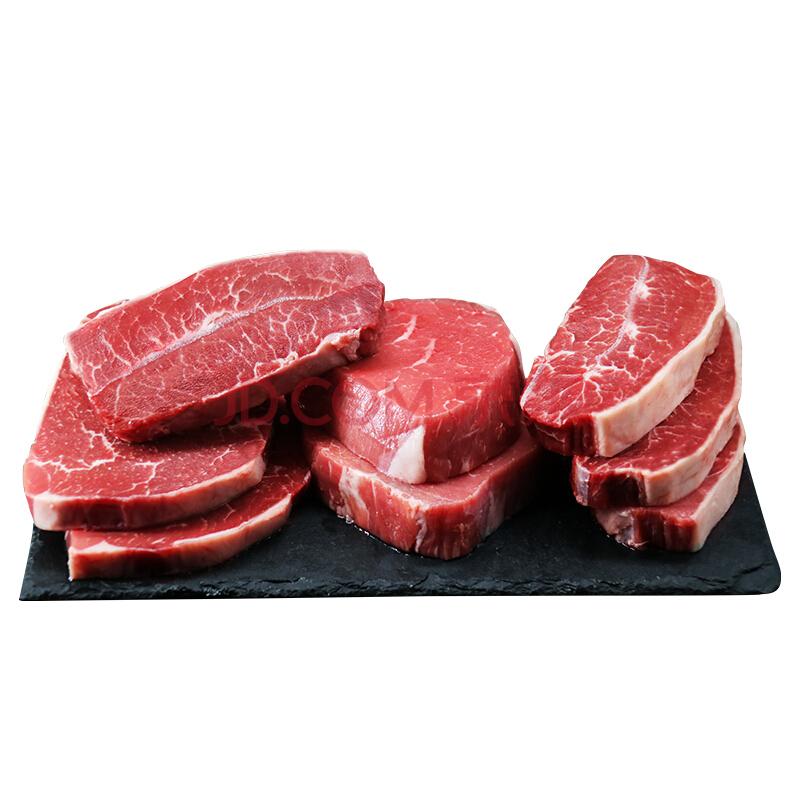 京东PLUS会员: 春禾秋牧 原切牛排套餐 1.16kg 6份装 129元包邮(需用券)