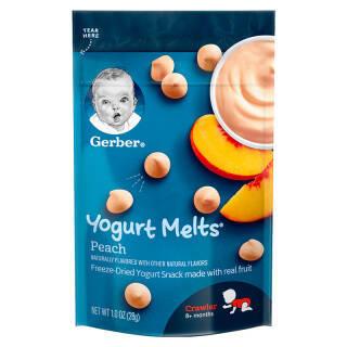 嘉宝(Gerber ) 婴幼儿辅食 宝宝零食 酸奶溶豆 桃子味 三段(8个月以上) 28g 美国进口 *5件 89.6元(合17.92元/件)