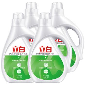 2日0点、京东PLUS会员:Liby 立白 茶籽除菌洗衣液 12斤 *4件 134.8元包邮(合33.7元/件) ¥135
