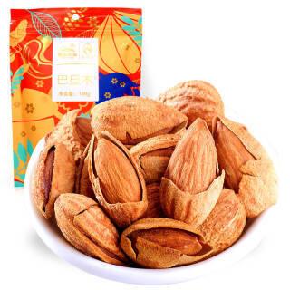 艾贝拉 坚果炒货 干果蜜饯 休闲零食果园农场 每日坚果巴旦木188g 8.25元