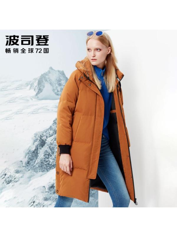 ¥349 BOSIDENG 波司登 B70142126 冬 女士中长款羽绒服