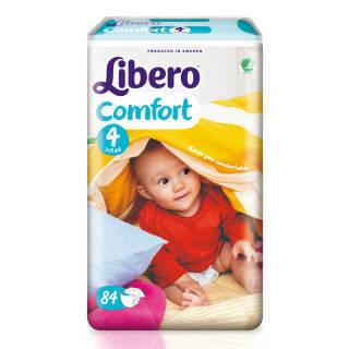 丽贝乐(Libero) 婴儿纸尿裤 M号 84片 *2件 150元(合75元/件)