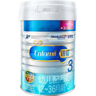MeadJohnson Nutrition 美赞臣 铂睿 幼儿配方奶粉 3段 850g *3件 360元(合120元/件)