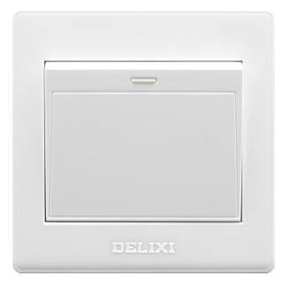 DELIXI 德力西 雅白系列 EC86K1 开关插座面板 单开一开单控 4.83元