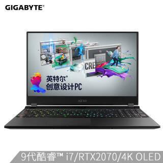 技嘉(GIGABYTE) RP75 NewAero15 15.6英寸游戏本(i7-9750H、16GB、512GB、RTX2070MaxQ、4K OLED) 18999元