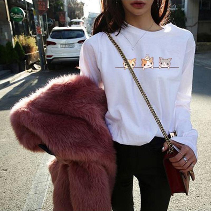 断码清仓显瘦长袖T恤女春装2019韩版学生修身白色体恤休闲打底衫 15.8元