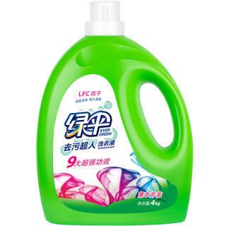 绿伞(EVER GREEN) 去污洗衣液 玉兰幽香 4kg 29.9元
