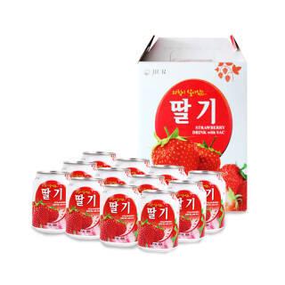 韩国原装进口 九日(JIUR)草莓果汁饮料 238ml*12瓶 礼盒装 *3件 84.96元(合28.32元/件)