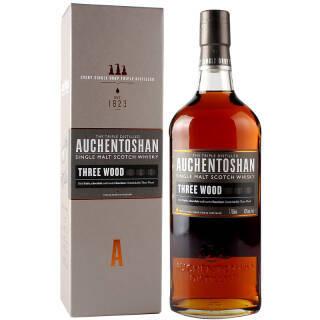AUCHENTOSHAN 欧肯特轩 洋酒 三桶单一麦芽威士忌 750ml 320元