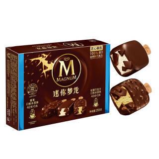 和路雪 迷你梦龙 香草口味+松露巧克力口味雪糕 6支 255g *4件 84元(合21元/件)