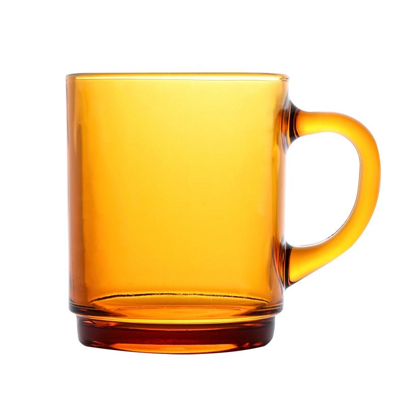 法国DURALEX进口钢化玻璃杯260ml琥珀色咖啡杯牛奶杯泡茶杯热饮 *2件 29元(合14.5元/件)