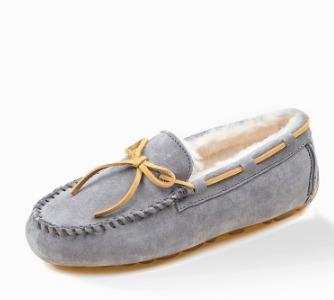 Ozwear 女士羊皮毛一体豆豆鞋 222元