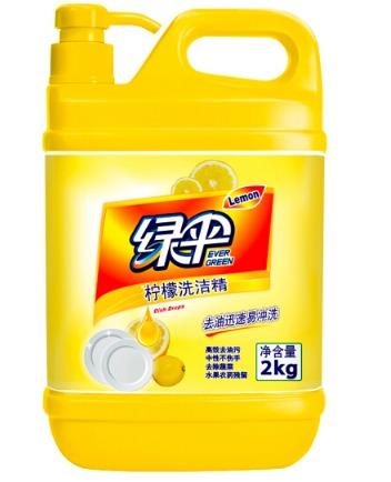 ¥19.9 绿伞 柠檬洗洁精2kg*2件