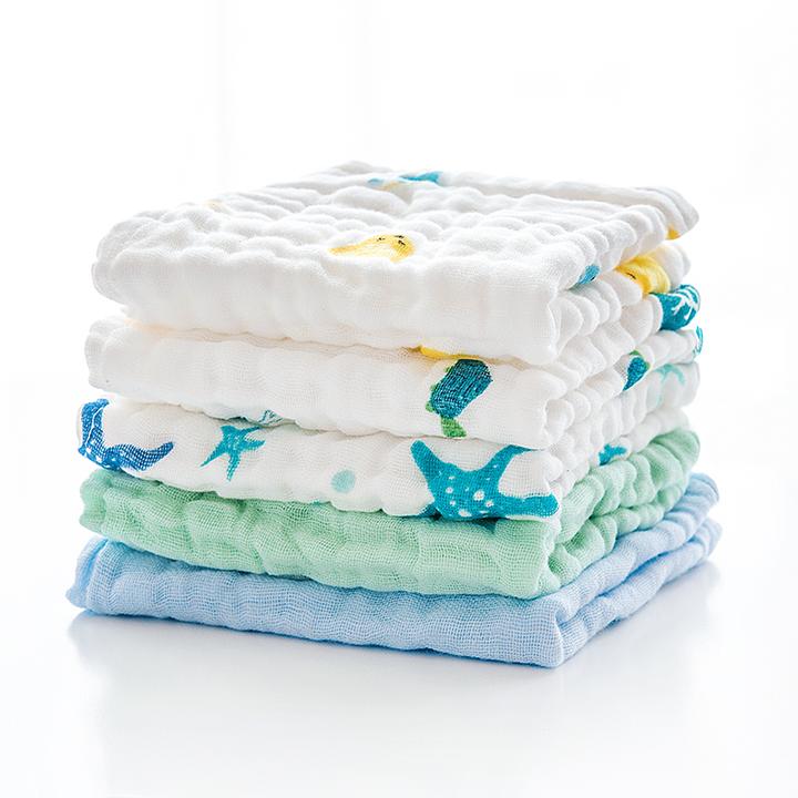 10点开始: BooBee 布比 婴儿纯棉纱布毛巾 5条装 9.95元包邮