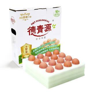 德青源 A级鲜鸡蛋 16枚 14.95元