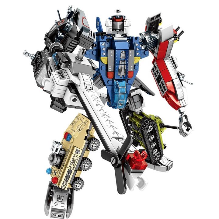 新森宝 变形机器人积木模型 积变捍卫者整套六盒 39元包邮