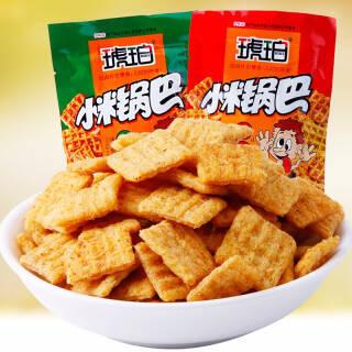 琥珀 小米锅巴 25g*20包麻辣小吃 米饼膨化食品办公室休闲零食 牛肉味  券后8.9元