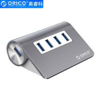 奥睿科(ORICO)USB分线器3.0高速扩展HUB集线器 台式笔记本电脑一拖四全铝多接口转换器 深空灰M3H4 59元