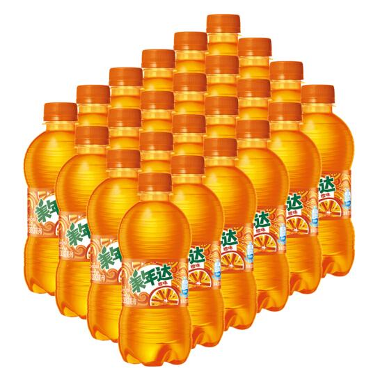 美年达 橙味 果味型汽水 300ml*24瓶 28.9元