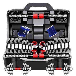 诚悦电镀哑铃杠铃30kg(15公斤*2)男女士体育运动健身器材家用组合套装CY-128 288元
