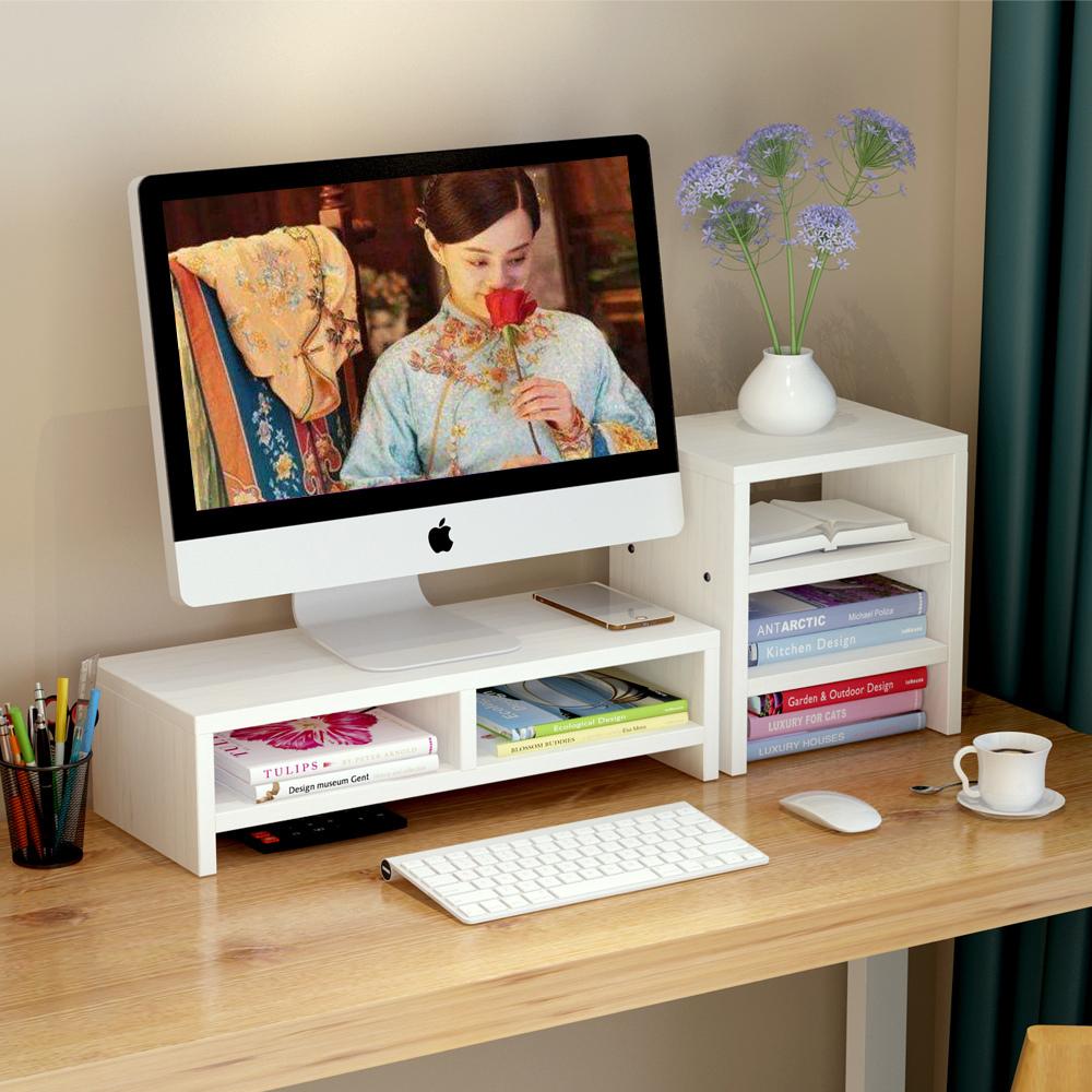 电脑显示器屏增高架底座桌面键盘置物架收纳整理托盘支架子抬加高 14元