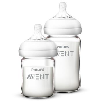 历史低价: AVENT 新安怡 婴儿玻璃奶瓶 125ml+240m 118元包邮