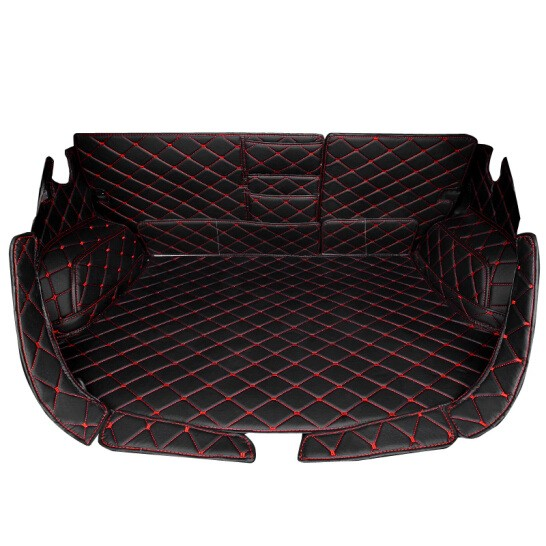 威战 汽车后备箱垫 绗绣黑红主垫 39元包邮